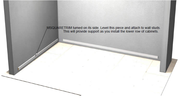 Once The Leveling Board Is Installed And Leveled, You Can Simply Pick Up  Your Lower Row Of Cabinets And Place Them Atop The Ledger Board One By One.