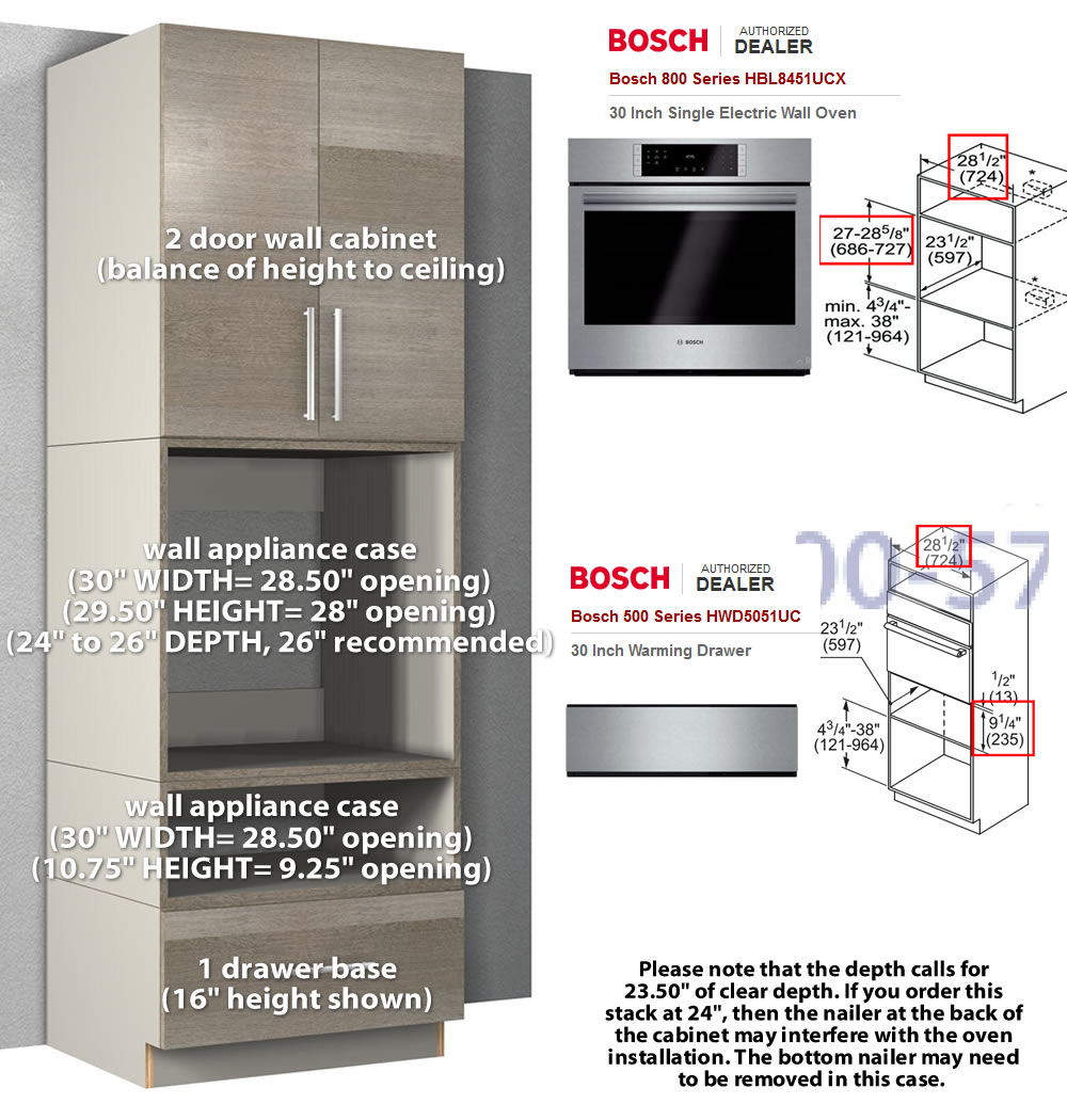 Specifications taken from AJ Maddison.  sc 1 st  Barker Modern! & kitchen appliance case wall cabinets